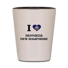 I love Henniker New Hampshire Shot Glass