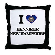 I love Henniker New Hampshire Throw Pillow