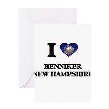 I love Henniker New Hampshire Greeting Cards