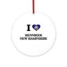 I love Henniker New Hampshire Ornament (Round)