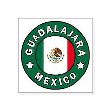 "Guadalajara Square Sticker 3"" x 3"""