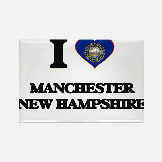 I love Manchester New Hampshire Magnets