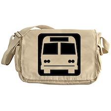 Bus Symbol - Black Messenger Bag