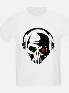Terminator Dj Skull Dubstep Cyber Punk Har T-Shirt