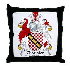 Chandler Family Crest Throw Pillow