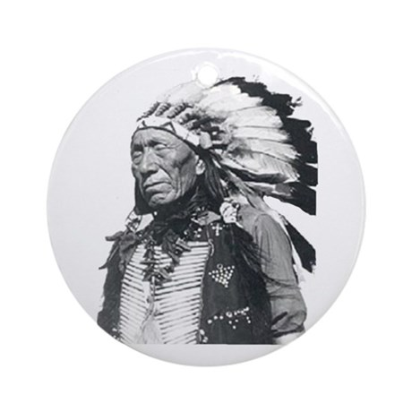 Black Elk Ornament (Round)
