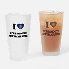 I love Portsmouth New Hampshire Drinking Glass