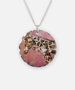 Giraffe Mom and Baby Necklace