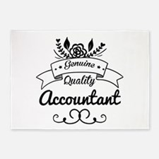Genuine Quality Accountant 5'x7'Area Rug