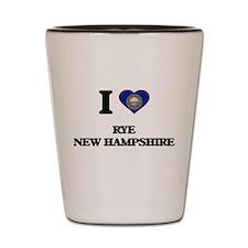 I love Rye New Hampshire Shot Glass