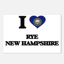 I love Rye New Hampshire Postcards (Package of 8)