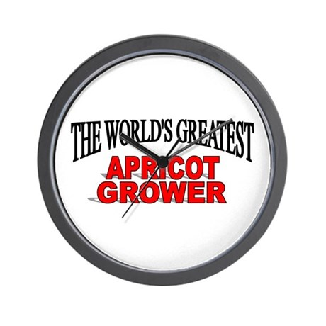 """""""The World's Greatest Apricot Grower"""" Wall Clock"""