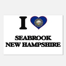 I love Seabrook New Hamps Postcards (Package of 8)
