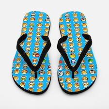 blue emoji Flip Flops