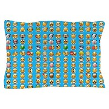 blue emoji Pillow Case
