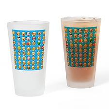 blue emoji Drinking Glass