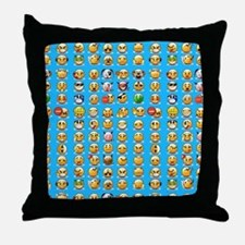 blue emoji Throw Pillow