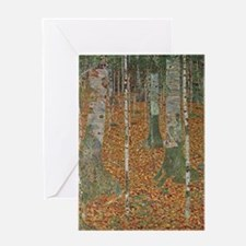 Birch Forest by Gustav Klimt Greeting Cards