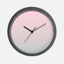 grey pink ombre Wall Clock
