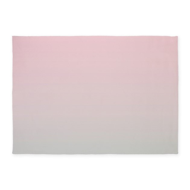 Grey Pink Ombre 5'x7'Area Rug By ADMIN_CP62325139