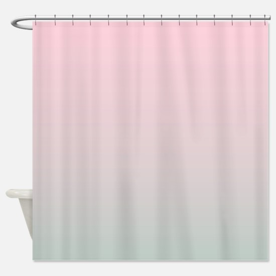 pink grey shower curtain. grey pink ombre Shower Curtain Grey Ombre Curtains  CafePress