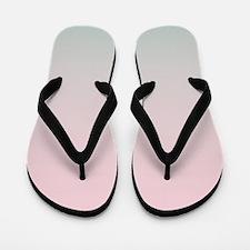 grey pink ombre Flip Flops