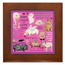 Pigs Framed Tile