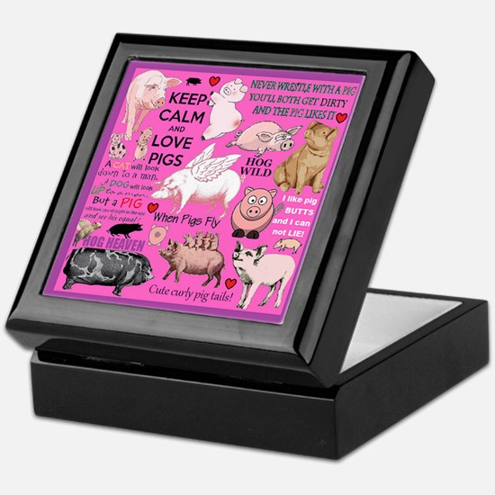 Pigs Keepsake Box