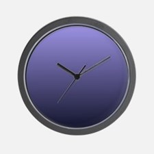 purple Violet Ombre Wall Clock