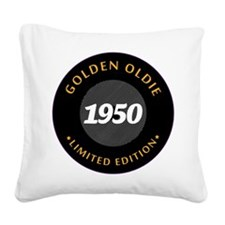 Birthday Born 1950 Classic Ed Square Canvas Pillow