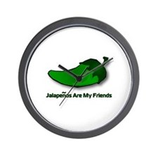 Jalapenos Are My Friends Wall Clock