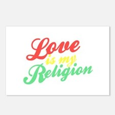 Love is my Religion Postcards (Package of 8)