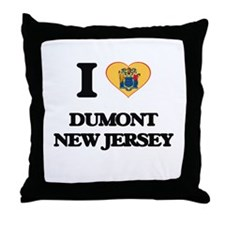 I love Dumont New Jersey Throw Pillow