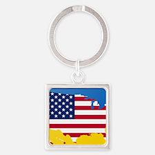 Ukrainian-American Keychains