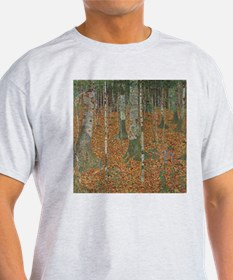 Birch Forest by Gustav Klimt T-Shirt