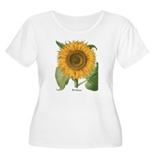 Vintage Sunflower Basilius Besle Plus Size T-Shirt