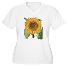 Vintage Sunflower Basilius Besle Plus Size T-Shirt