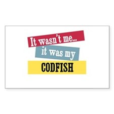 Codfish Rectangle Decal
