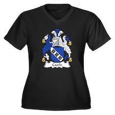 Castle Family Crest Women's Plus Size V-Neck Dark