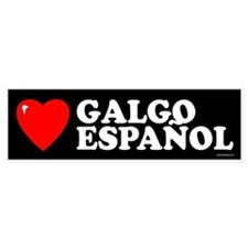 GALGO ESPAÑOL Bumper Car Sticker