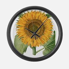 Vintage Sunflower Basilius Besler Large Wall Clock