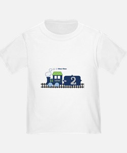 Personalized Choo Choo Train Birthday T-Shirt