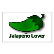 Jalapeno Lover Rectangle Decal