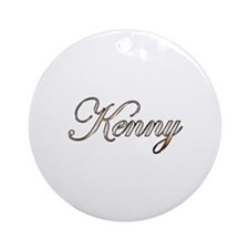 Gold Kenny Round Ornament