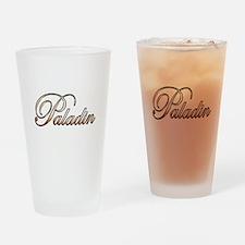 Gold Paladin Drinking Glass