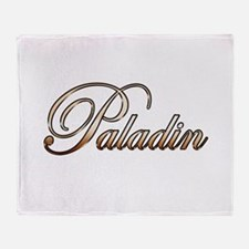 Gold Paladin Throw Blanket