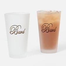 Gold Bard Drinking Glass