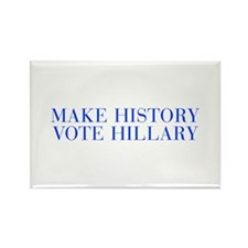 Make History Vote Hillary-Bau blue 500 Magnets