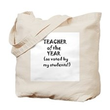 Teacher of the Year Personalized Tote Bag