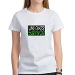 'Lung Cancer Survivor' Women's T-Shirt